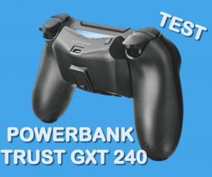 Akcesoria PS4. Test powerbank Trust GXT 240.